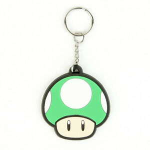 Official-Nintendo-1Up-MUSHROOM-KEYCHAIN-Mens-Rubber-Car-Keyring-FUNNY-Mario-1-UP