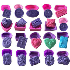 3D-Silicone-Soap-Mold-Cake-Decor-Candy-Chocolate-Cookies-Baking-Mould-55-Styles