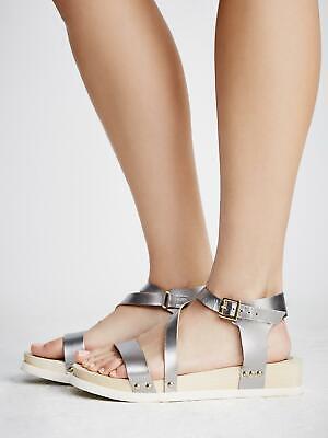 Women Bibi Lou x Free People Womens Madison Platform Wedge Shoes Silver 40 Euro