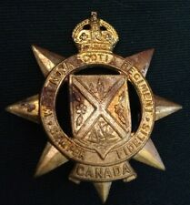 The WEST NOVA SCOTIA REGIMENT Canada WWII hat brass cap badge WW2 Canadian type1
