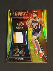 2019 Panini Select DS GOLD Prizm /10 Ty Jerome RC 3 Color Patch Rookie