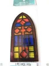 "JOLEES BOUTIQUE ""STAINED GLASS WINDOW"" Church Love/Wedding Scrapbook 3d"