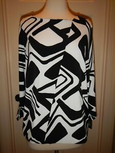 NEW-MSRP-69-Chico-039-s-2-Size-12-Knit-Kit-Geometric-Knit-Top-NWT