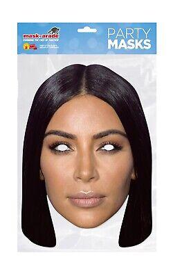 Kim Kardashian West Face Party Mask Card A4 Fancy Dress TV Model Ladies Men Kids