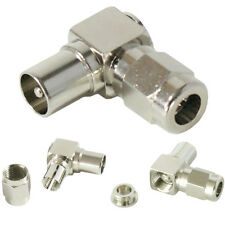 Right Angled TV Aerial Male Connector - 90 Degree RF Coaxial Plug Adapter
