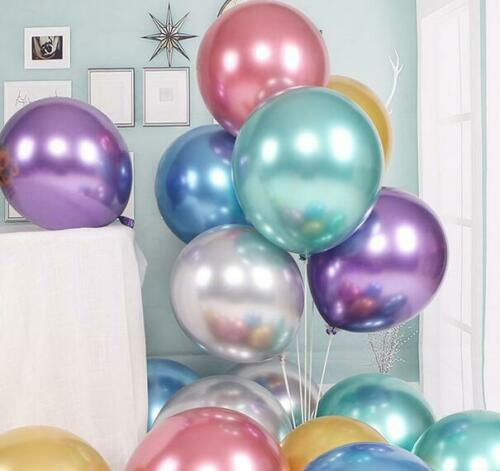 10//12inch Metalcolor Chrome thick latex  balloon wedding birthday party decorate