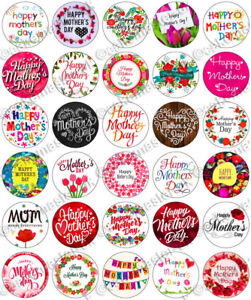 30 x Happy Mother's Day Mothers Party Edible Rice Wafer Paper Cupcake Toppers