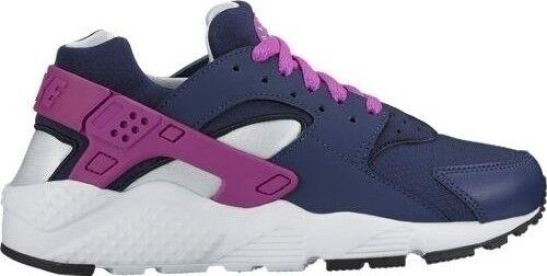 Damenschuhe Nike Huarache Run Neu midnight Damen Premium Sneaker Gr:36,5 midnight Neu navy  90 97 75c7c6