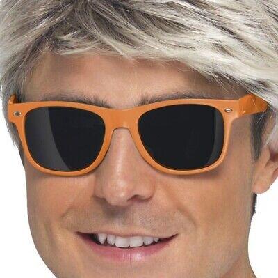 Cosciente 1980s Costume Occhiali 80s Neon Orange Occhiali Da Sole Da Smiffys-mostra Il Titolo Originale