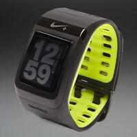 Nike+ Sportwatch Gps Powered By Tomtom Black Volt Watch & Free Foot Sensor
