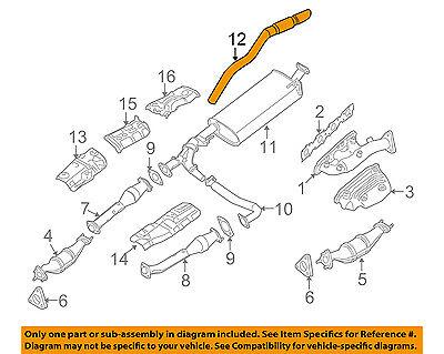 Exhaust Tail Pipe Walker 54696 fits 05-15 Nissan Xterra 4.0L-V6
