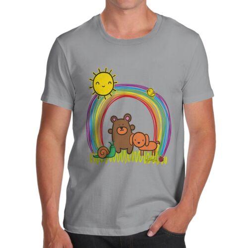 Twisted Envy Men/'s Rainbow Sunshine Pets T-Shirt