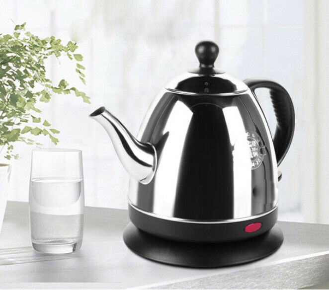 Stainless Steel Electric Aspect Kettle Boiler Jug 1000W 0.8L Height 19.4CM