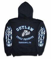 Outlaw Cycle Products Glow-in-the-dark Biker Hoodie Sweatshirt