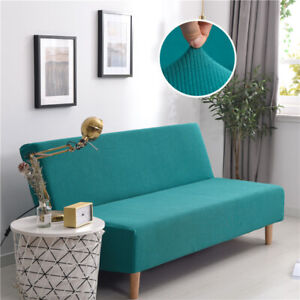Pleasant Details About Corduroy Armless Sofa Cover Stretch Universal Couch Slipcover Home Decoration Gmtry Best Dining Table And Chair Ideas Images Gmtryco