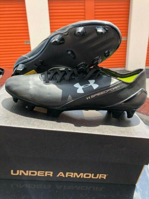 c5c16315a66 Under Armour SPEEDFORM CRM FG Leather Soccer Cleats 1265285 002 BLACK SIZE 8