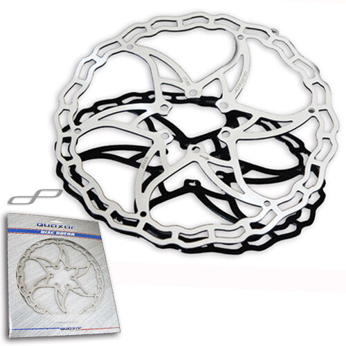 Quaxar Ultra-lightweight FXR008 Stainless Steel Disc Brake Rotor 180mm - Silver