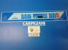 Carpigiani Parts Batch Freezer Gelato Ice Cream Touch Panel Front Decal Lb302rtx