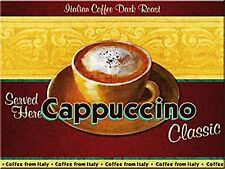 Cappuccino Coffee steel fridge magnet   (na)