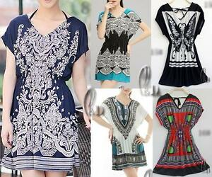 WHOLESALE-BULK-LOT-OF-10-MIXED-STYLE-Tunic-Kaftan-Top-Beach-Bikini-Cover-sw016