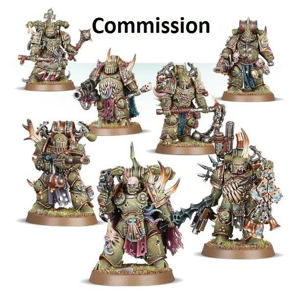 Plague Marines Death Guard Commission Superbly Superbly Superbly Painted 40K Warhammer 42e023
