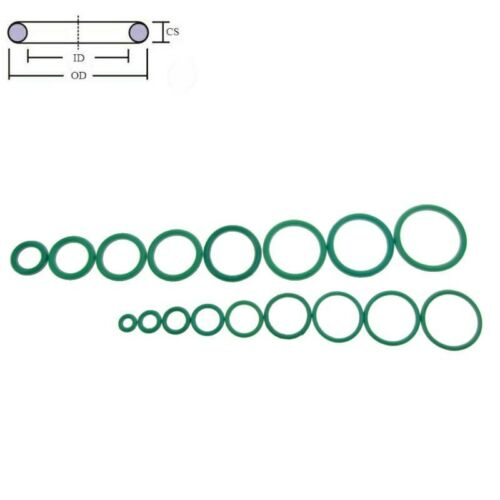 FKM Viton Rubber O-Ring Assortment Kit CS 1 mm 5 Size x 10pcs each Size 50pcs