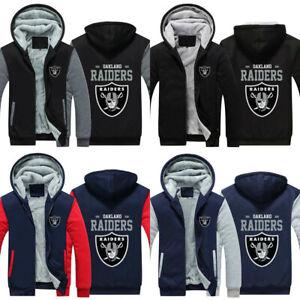 Oakland Raiders football hoodie thicken jacket coat winter warm sweatshirts hot
