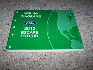 2012 ford escape hybrid electrical wiring diagram manual limited 2 5l 4cyl ebay