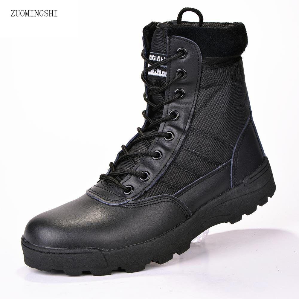 Military leather boots for men Combat Infantry tactical Botas militares de cuero