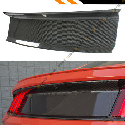 Gloss Black Carbon Fiber Trunk Panel Boot Cover Fits 2015-2017 Ford Mustang