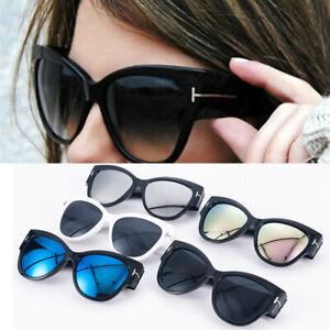Men-Women-UV400-Cat-Eye-Sunglasses-Fashion-T-Letter-Glasses-Eyewear-Retro-Shades
