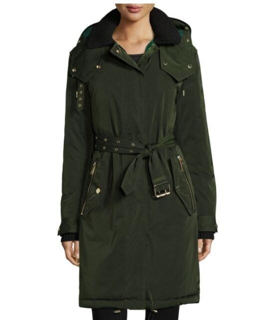 Burberry Hunnbridge Puffer Parka Coat Dark Cedar Green 6 US $1495