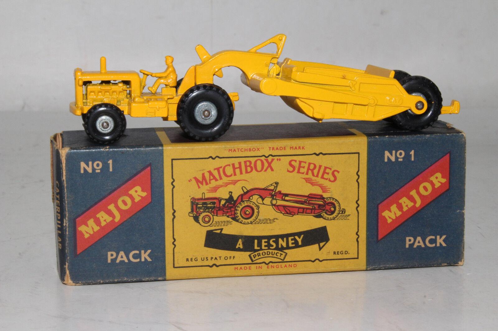 Matchbox Lesney Majeur Paquet  M-1 Caterpillar Earth Mover ,  Rare Boîte Type C  assurance qualité