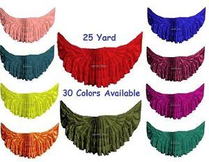 Efficace Satin 25 Yard 4 Tier Skirt For Belly Dancing Women Tribal Jupe Gypsy Skirt