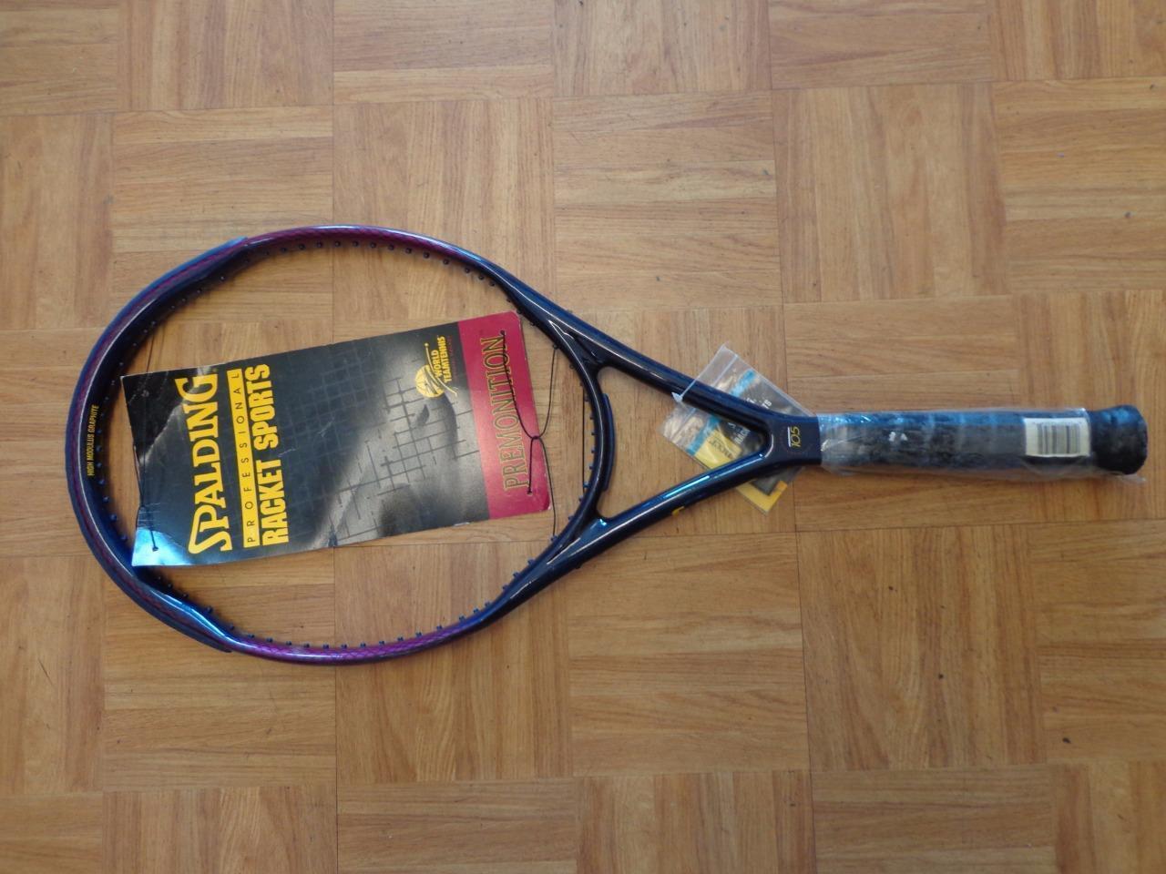 nouveau Spalding Premonition OS 105 head 4 5 8 grip Vintage Tennis Racquet