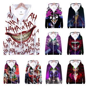 NEW-Haha-joker-3D-Print-zip-Sweatshirt-Hoodie-Men-and-women-Hip-Hop-Pullover-Top