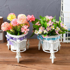 Beauty-Tricycle-Bike-Flower-Basket-Vase-Stand-Holder-Wedding-Party-Home-Decor-W