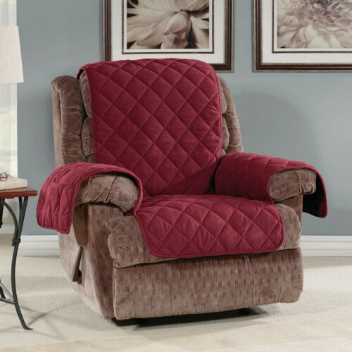 NEW Oversized Microfleece Recliner Furniture Cover burgany