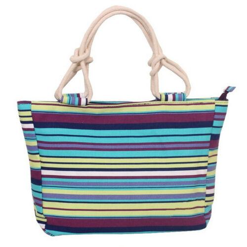 Handbag Shopping Bag Womens Ladies Patterned Canvas Beach Tote Bag