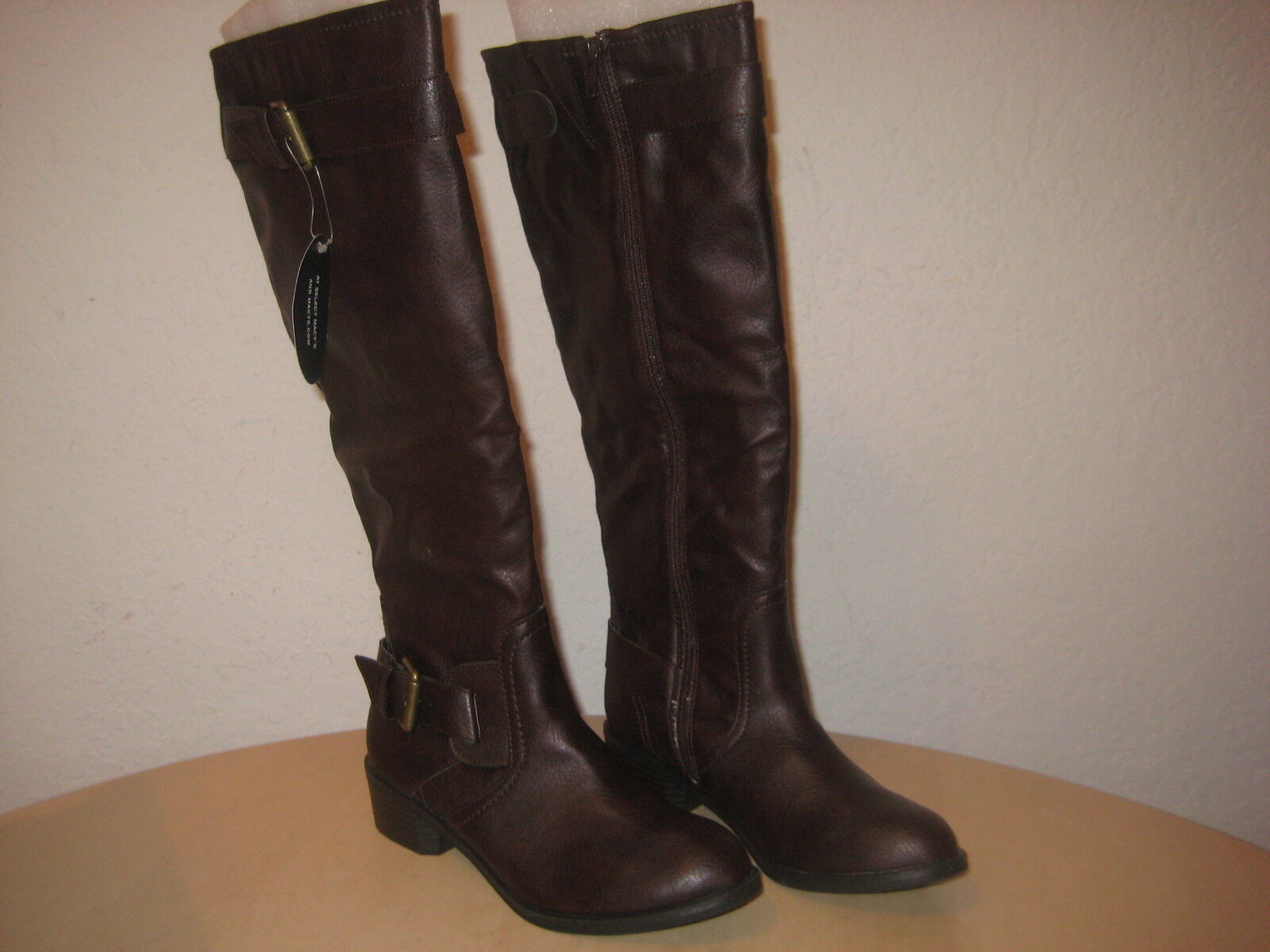 Style & Co shoes 6 M New Womens Ryder Brown Knee High Fashion Boots NWOB