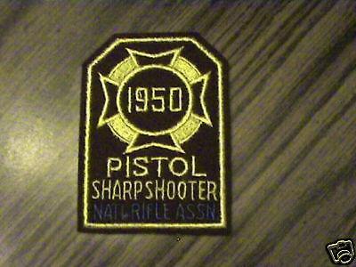 1950 NRA PISTOL EXPERT MINT VINTAGE RARE SHOOTING PATCH