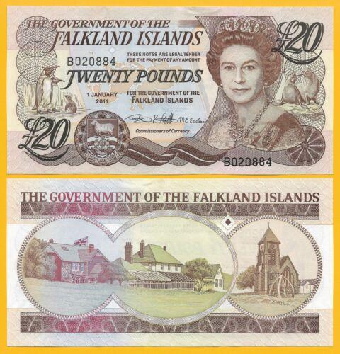 Falkland Islands 20 Pounds p-19 2011 UNC Banknote