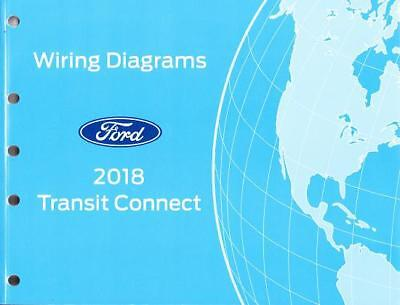 2018 ford transit connect oem wiring diagrams schematics manual book  fcs2102918  ebay