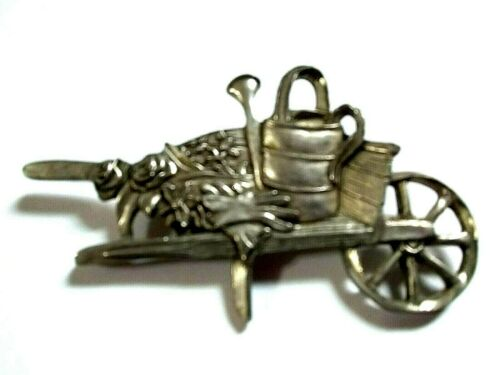 Vintage 80s Pin Seagull Pewter Clown Brooch