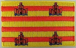 Formentera-Aufnaeher-gestickt-Flagge-Fahne-Patch-Aufbuegler-6-5cm-neu