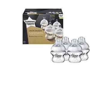 Tommee Tippee cerca de naturaleza 150 ML bebé los biberones 3 Pack anti-cólico