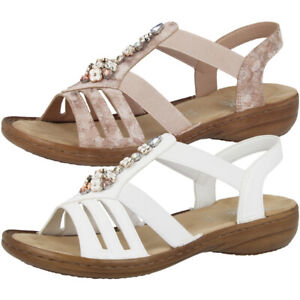 Details zu Rieker Women Sandalen Damen Antistress Schuhe Sandaletten Pantoletten 60855
