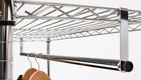 48 Clothes Hanging Bar For Wire Racks