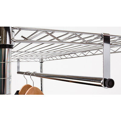 """48"""" Clothes Hanging Bar for Wire Racks"""