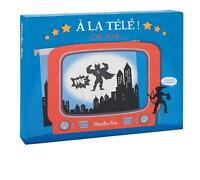 Moulin Roty Tv Shadow Box With 3 Shadow Pieces Puppet Show Pretend Play